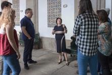 Em visita à Biblioteca Pública Municipal do Porto